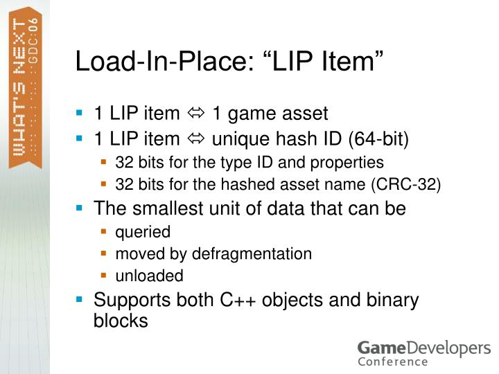 """Load-In-Place: """"LIP Item"""""""
