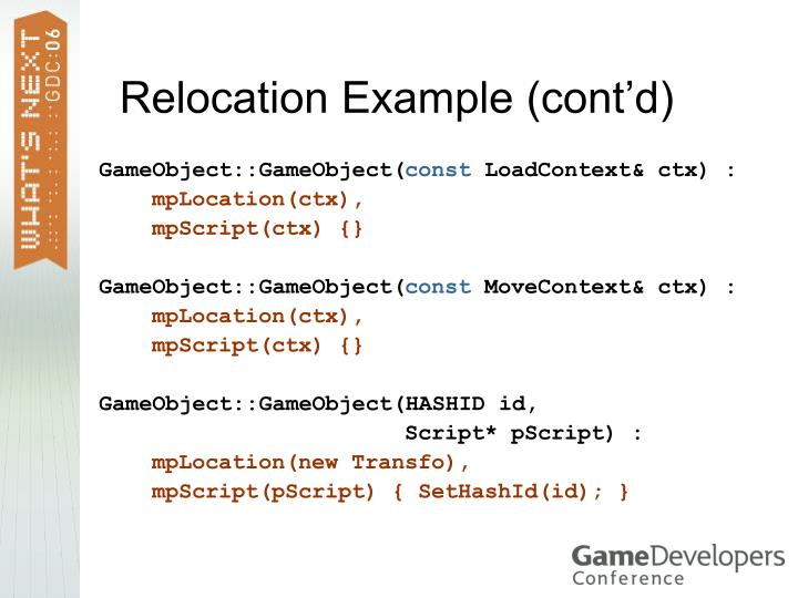 Relocation Example (cont'd)
