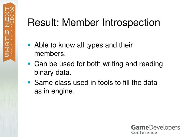 Result: Member Introspection