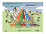 mypyramid for kids website materials