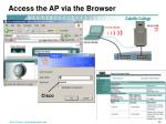 access the ap via the browser