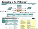 connecting to the ap browser