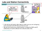 labs and station connectivity