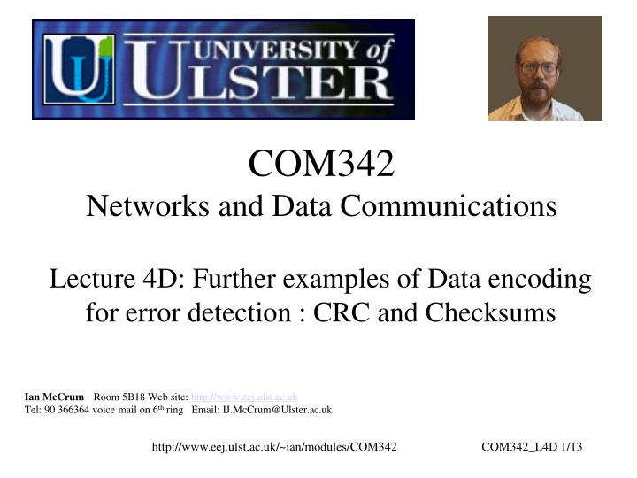 com342 networks and data communications n.