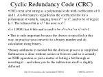 cyclic redundancy code crc