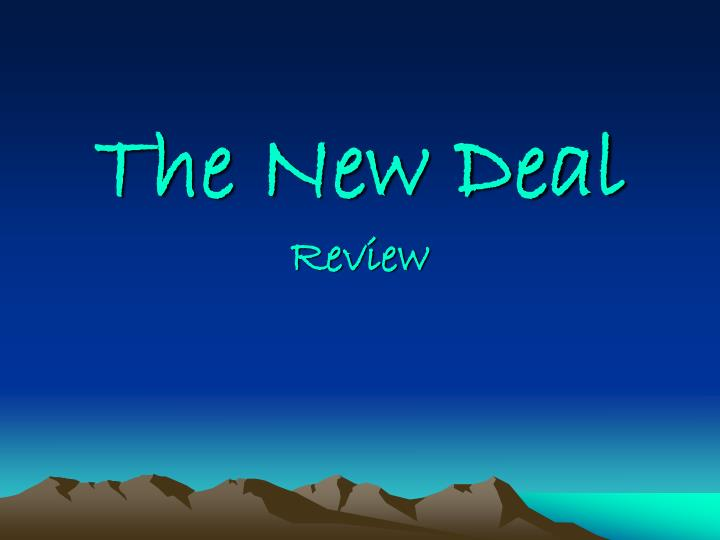 the new deal review n.