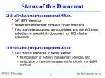 status of this document