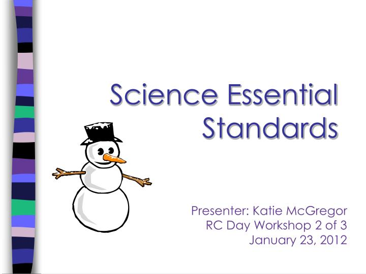 science essential standards n.