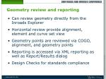 geometry review and reporting