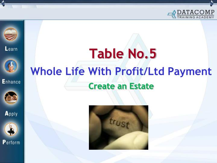 table no 5 n.