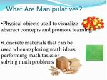 what are manipulatives