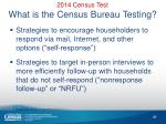 2014 census test what is the census bureau testing