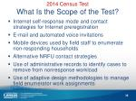 2014 census test what is the scope of the test