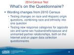 2014 census test what s on the questionnaire