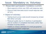 issue mandatory vs voluntary