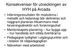 konsekvenser f r utvecklingen av hyh p arcada