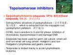 topoisomerase inhibitors1
