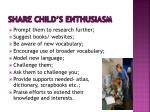 share child s enthusiasm