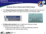 data drivers the impetus for developing an eda program1