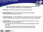 key roles and responsibilities data stewards