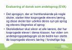 evaluering af dansk som andetsprog eva