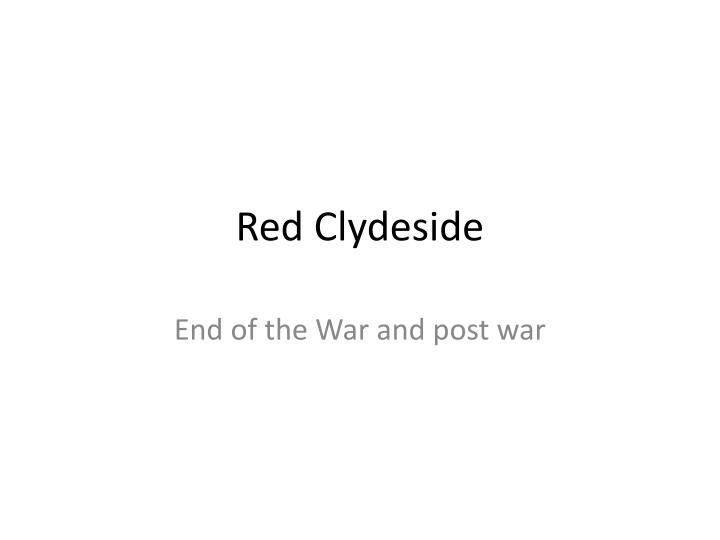 red clydeside n.