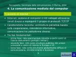 paccagnella sociologia della comunicazione il mulino 2004 4 la comunicazione mediata dal computer1
