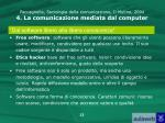 paccagnella sociologia della comunicazione il mulino 2004 4 la comunicazione mediata dal computer10