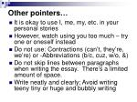 other pointers