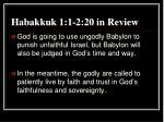 habakkuk 1 1 2 20 in review
