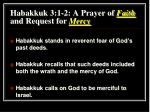 habakkuk 3 1 2 a prayer of faith and request for mercy
