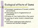 ecological effects of dams