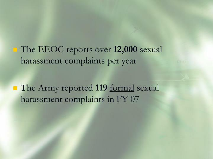 The EEOC reports over