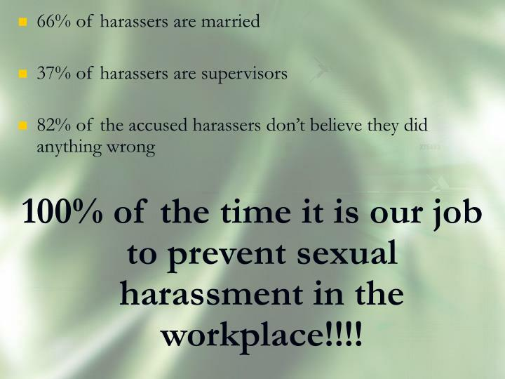 66% of harassers are married