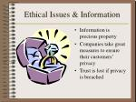 ethical issues information