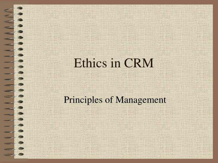 ethics in crm n.