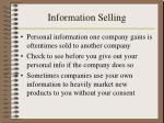 information selling