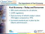 fuel economy today and tomorrow