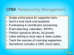 crm relationship management