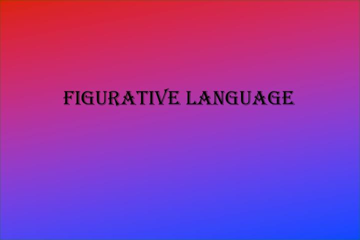 figurative language n.