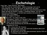 eschatologie