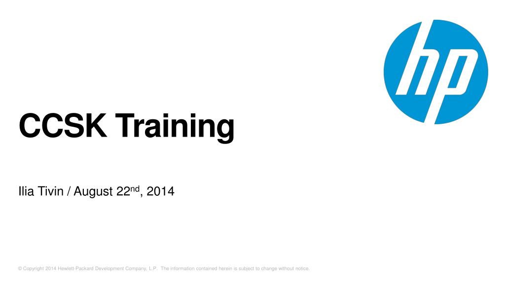 Ppt Ccsk Training Powerpoint Presentation Id5621758