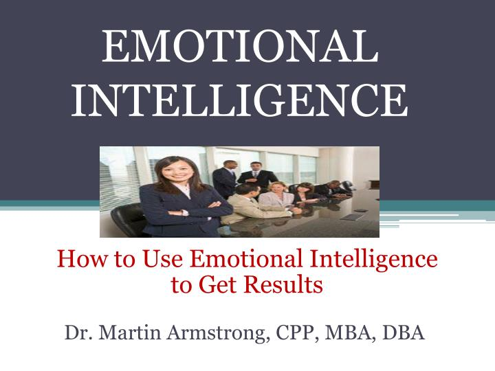emotional intelligence n.