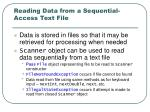 reading data from a sequential access text file