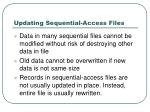 updating sequential access files