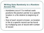 writing data randomly to a random access file