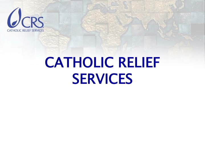catholic relief services n.