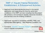 nwp 27 aquatic habitat restoration establishment enhancement activities1