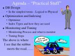 agenda practical stuff