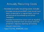 annually recurring costs